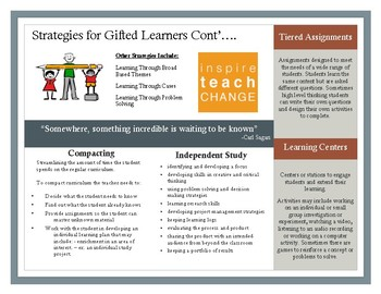 Teaching Gifted Students In B.C. - Strategies for Providing Content -