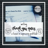 Teaching Gratitude: Handwritten Thank You Notes