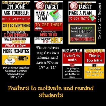 Growth Mindset: Posters, Lessons and Goal Setting