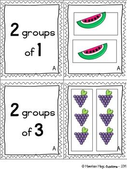 """Teaching """"Groups of"""" Game - Beginning Multiplication"""
