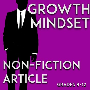 Growth Mindset Lesson: Challenging Non-Fiction/Informational Passage