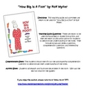 """Teaching Guide and Worksheets for """"How Big Is a Foot"""" by R"""