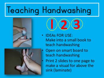 Teaching Handwashing Visual Aid Book Smartboard Precious Preschoolers