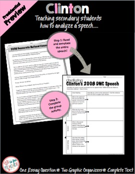 Teaching Hilary Clinton's 2008 Democratic National Convention Speech