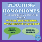 Homonym / Vocabulary Words Activity with Worksheets & Quizzes with Answer Key