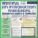 Writing an Introduction-Writing Menu