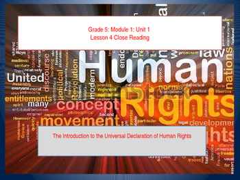 Teaching Human Rights: UDHR Lesson 4