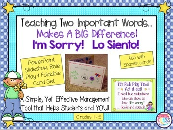 Teach Students to Say I'm Sorry A Behavior Helper Role Play Program & Materials