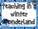 Teaching In A Winter Wonderland