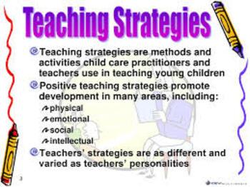 Teaching In Pre-School – Teaching Strategies