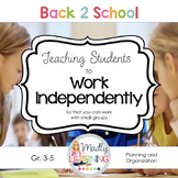 Teaching Independent Work Skills