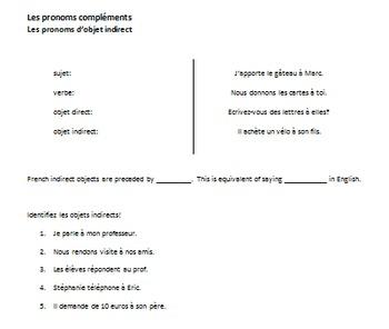 Teaching Indirect Object Pronouns