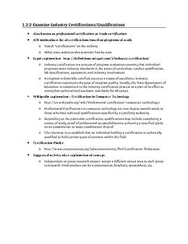 Teaching Industry Certifications in TDA