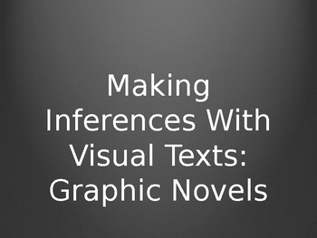 Teaching Inferences using a Graphic Novel