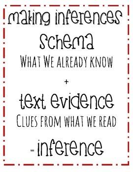 Teaching Inferring and Schema!