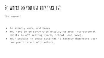Teaching Interpersonal Skills Lesson
