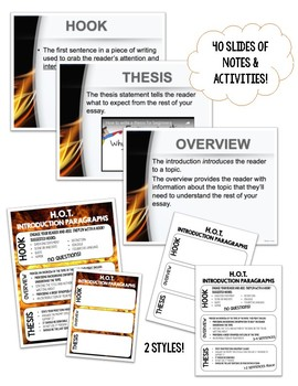 Teaching Introduction Paragraphs: H.O.T. Intros PowerPoint, Activity & Notes