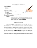 Teaching Introductory Paragraphs