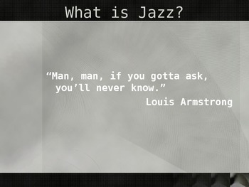 Teaching Jazz powerpoint