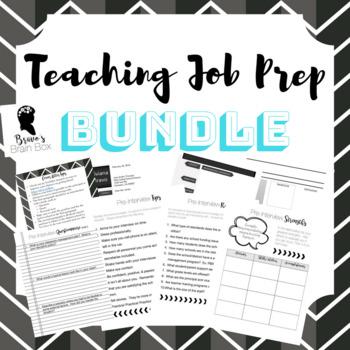 Teaching Job Prep Bundle