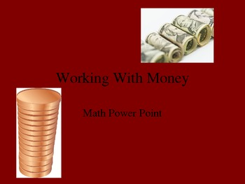 Teaching Kids About Money Powerpoint