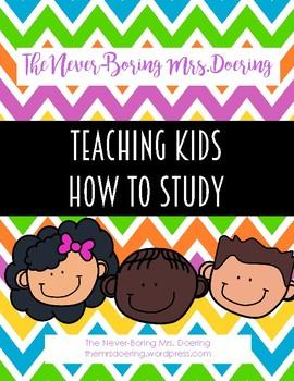 Teaching Kids How to Study--Creating Study Materials