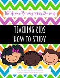 Teaching Kids How to Study--Creating Study Materials