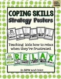 RELAX with Coping Skills Posters During Times of Frustration