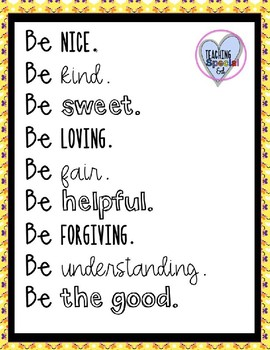 Teaching Kindness - Poster Only