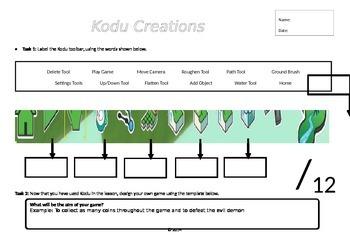 Kodu Programming - Label the Toolbar