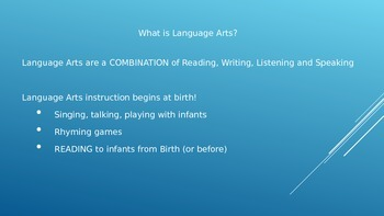 Teaching Language Arts to young children ages 0-5