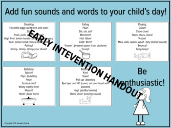Speech and Language with Fun Words, Early Intervention, Speech Therapy