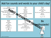 Speech and Language with Fun Words, Early Intervention, Sp