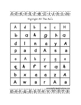 Teaching Letter A.....daily individual worksheets and activities