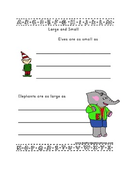 Teaching Letter E.....daily individual worksheets and activities