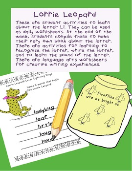 Teaching Letter L.....daily individual worksheets and activities