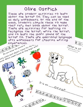 Teaching Letter O.....daily individual worksheets and activities