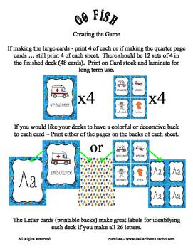 Teaching Letter P Beginning Sound Go Fish Card Game ~ Alphabet Supplement