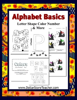 Teaching Letter P with the Basic Preschool Curriculum - Color Number & More