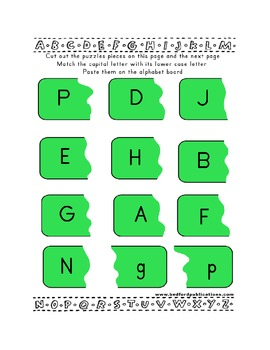 Teaching Letter P.....daily individual worksheets and activities