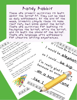 Teaching Letter R.....daily individual worksheets and activities