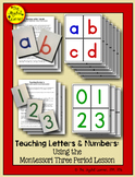 Teaching Letters & Numbers using the 3-Period Lesson (+ Writing Practice Strips)