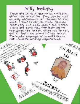 Teaching Letter W.....daily individual worksheets and activities