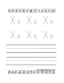 Teaching Letter X.....daily individual worksheets and activities