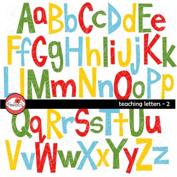 Teaching Letters 2 Clipart by Poppydreamz