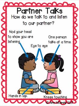 Teaching Listening Behavior, Partner Talks, and Independent Reading
