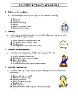 Teaching Literacy Strategies