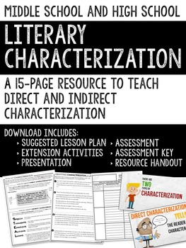 Characterization for Middle and High School Students