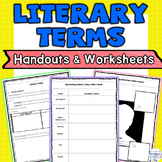 Literary Terms Handouts and Worksheets Activity