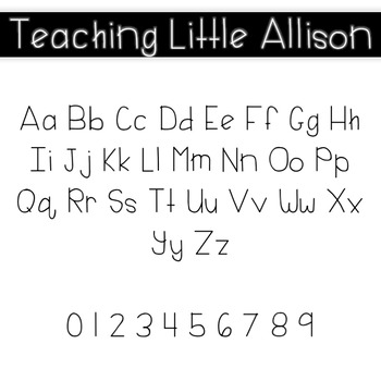 Teaching Little Allison Font for Commercial Use